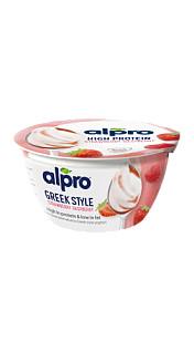 Alpro Greek Style jordgubbe-hallon