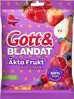 Malaco Gott & Blandat Äkta Frukt Bär & Frukt